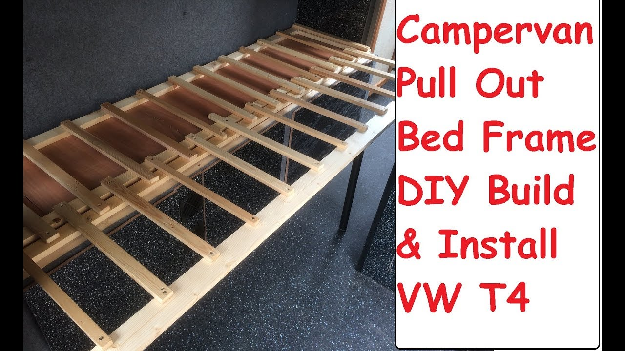 DIY Campervan Pull Out Bed Build  Install Guide VW T4