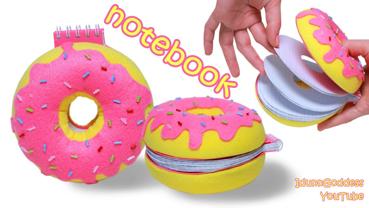 How To Make A Donut Notebook Diy Doughnut Notepad