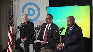 Repeat youtube video Democrats LIVE: Rep. John Lewis, Heather Booth, & Deputy Chair Keith Ellison