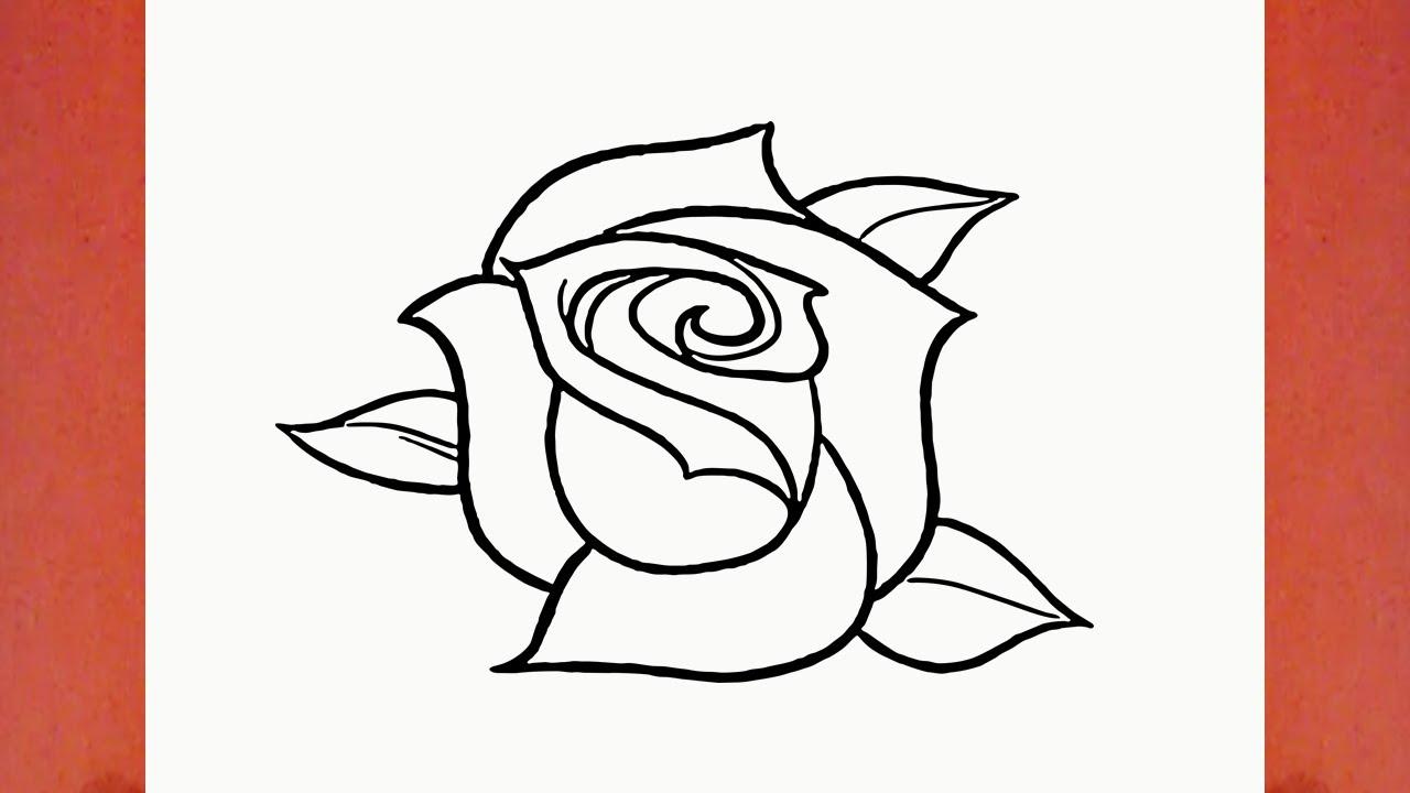 Como Desenhar Uma Rosa Flor How To Draw A Rose Flower