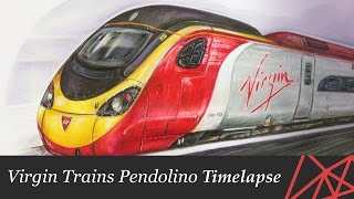 Virgin Trains Pendolino Illustration Timelapse (UPDATED)