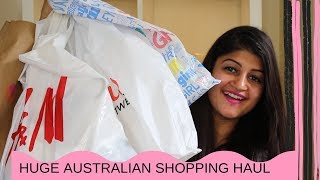 HUGE AUSTRALIAN SHOPPING HAUL (TRY-ON) || H&M CLOTHING, FOOTWEAR & LIFESTYLE HAUL || RIDHIMAA MOHINI