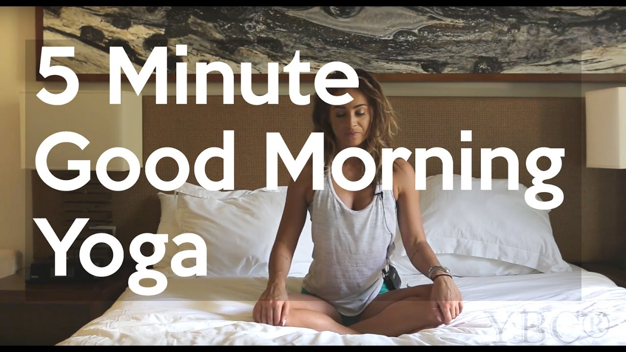 5 Minute Gentle Morning Bed Yoga