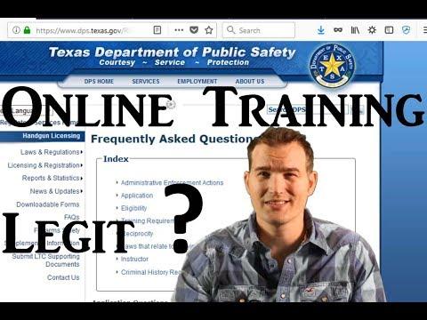 Texas Online Carry License?  Is it legal? Legit? CHL LTC Training Online