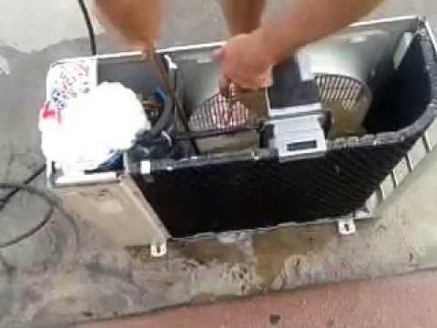 Aire Acondicionado Limpieza Unidad Exterior Split Youtube