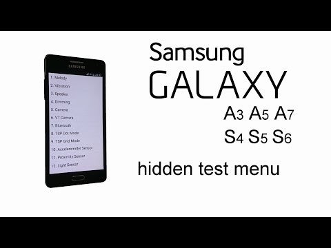 How to find hidden service test menu for Samsung galaxy S6