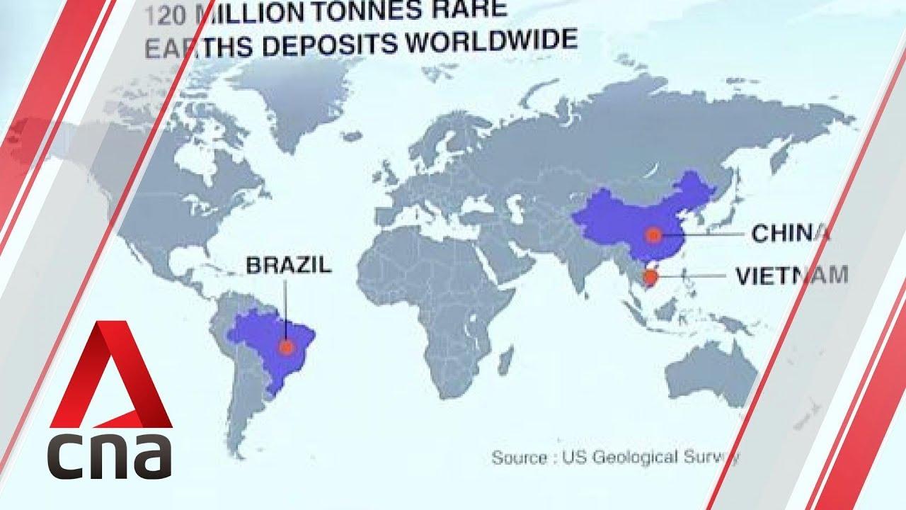 Us China Trade War Beijing Could Hit Back At Us By Restricting Rare - China-and-us-map