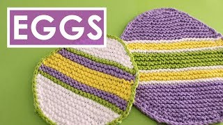 EASTER EGG DISHCLOTH 💖 Knitting Pattern by Studio Knit