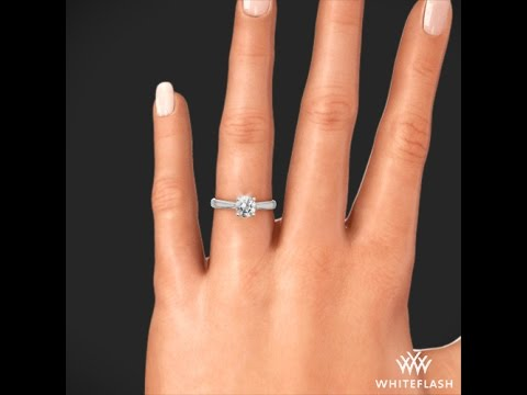 Comfort Fit Surprise Solitaire Engagement Ring on Hand YouTube
