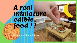 Miniature Cooking real food - Stir Fry Chicken - mini food kitchen recipe cooking channel