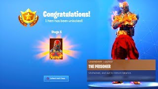 El STAGE 5 Prisoner SKIN Key Location en Fortnite Temporada 8..