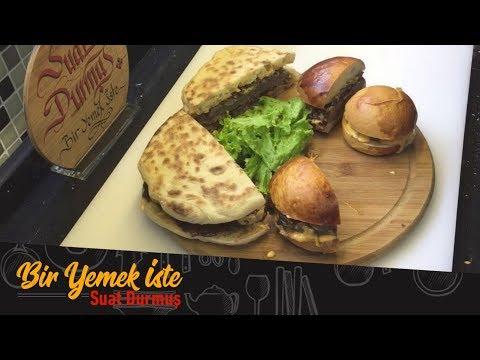 Efsane Hamburger İçin Eti Kasaptan Alıp Hazırlamasına Kadar Anlattım. | Bazlamada Hamburger Tarifi