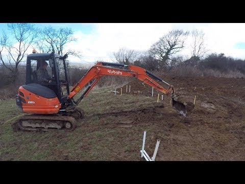 Off Grid Earthbag workshop part 4 Excavating the site
