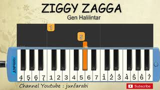 ziggy zagga pianika tutorial - gen halilintar - not pianika