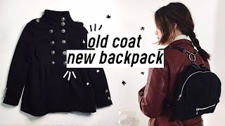 ✂️DIY Old Coat to Backpack | Qformation EP.3