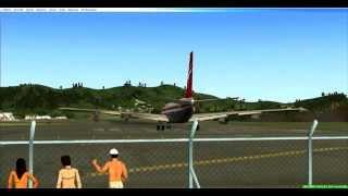 Fsx captain sim boing 707 st.marteen departure