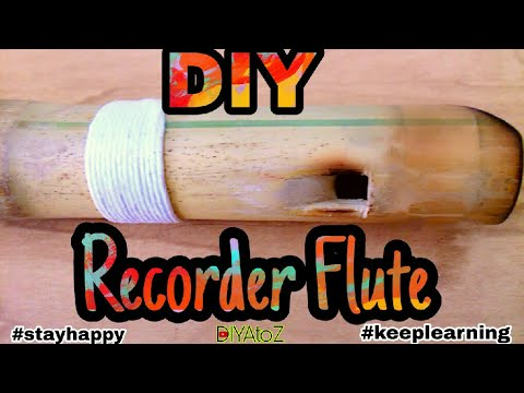 DIY How to Make Recorder Flute From Bamboo | Homemade Recorder Flute SEO Watch