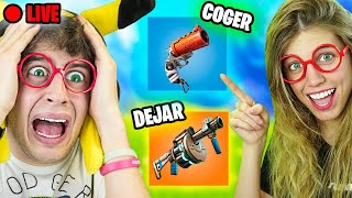 MI NOVIA DECIDE mi partida en DIRECTO en Fortnite Battle Royale! (Flipante..) ft. @Laia Oli