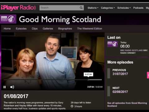 BBC Scotland Interview - 1 August 2017 - Global Internet Forum