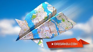 Flying paper airplane - Airplane Origami
