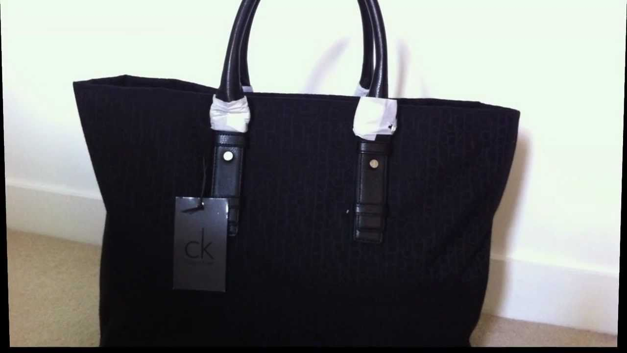 SOLD) Calvin Klein Travel Bag/Hand Luggage For Sale - YouTube