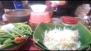 Som tam.Тайский острый салат из папайи
