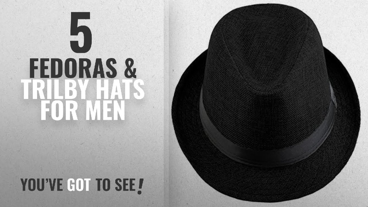 Top 10 Fedoras   Trilby Hats For Men  2018   Shanxing Fedora Hats ... efe6dee4f3f7