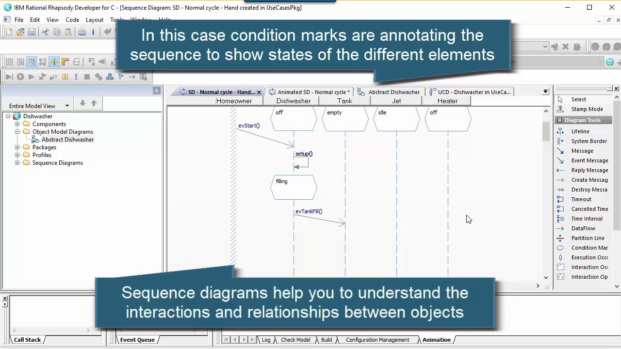 Rational Rhapsody Tip #47 - Condition Marks On Sequence Diagrams  (Intermediate)