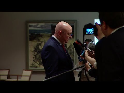 Vassily Nebenzia (Russian Federation) on the Situation in Syria - Media Stakeout (14 April 2018)