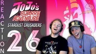 SOS Bros React -JoJo's Bizarre Adventure Part 3 Episode 26 - N'doul vs Jotaro & Iggy!!