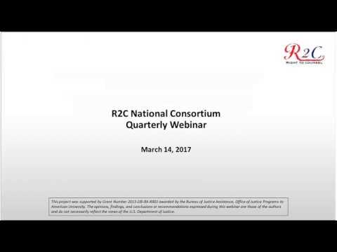 R2C National Consortium Quarterly Webinar (March 2017)