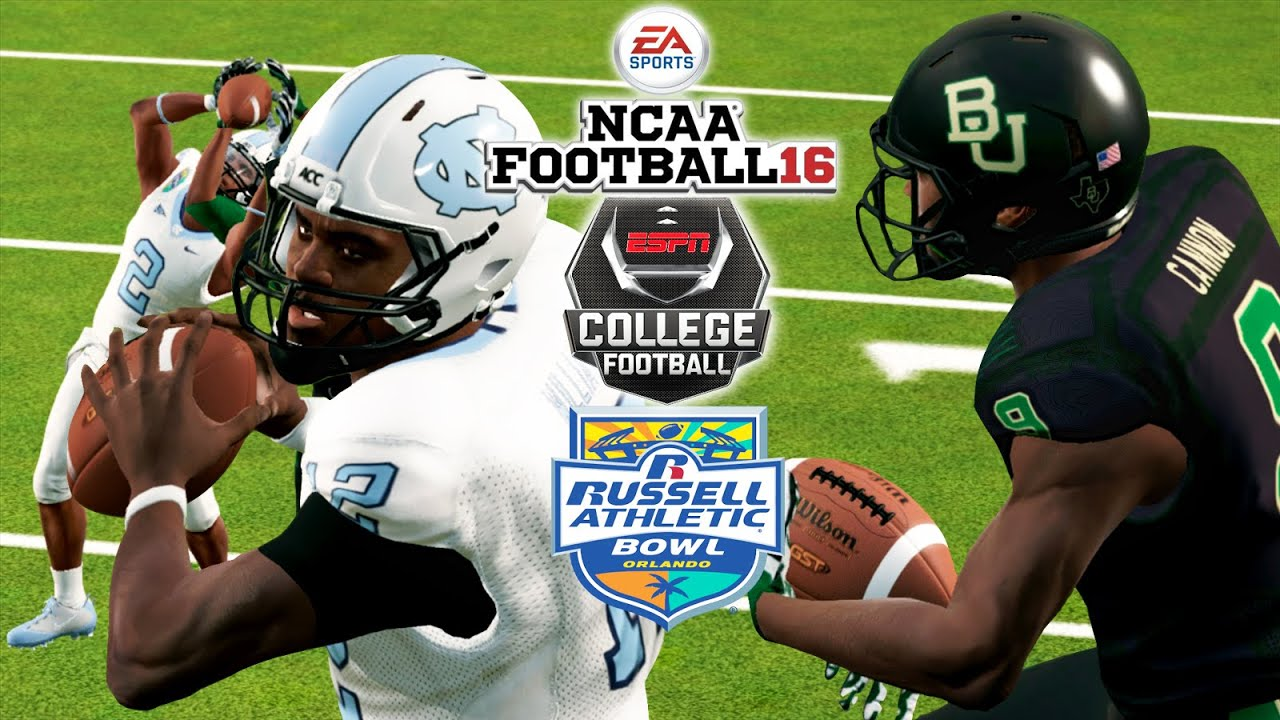 Ncaa Football 16 Russell Athletic Bowl 10 Unc Vs 17 Baylor