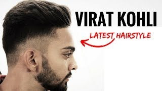 Virat Kohli hairstyle inspired haircut 2017 ⭐️ Men's hairstyles & haircuts| Indian men hairstyle.