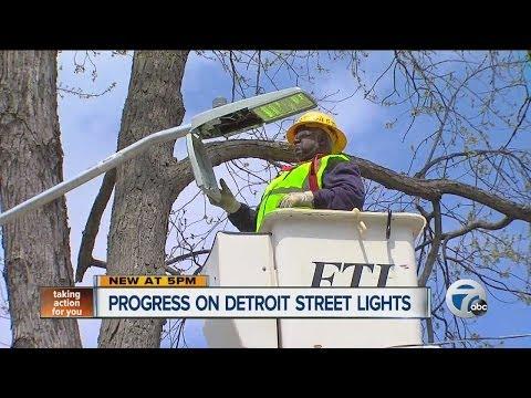 Progress on Detroit street lights