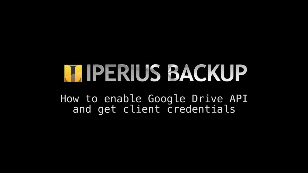 How to enable Google Drive API and get client credentials (SUB ITA_ENG)
