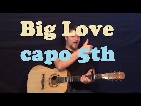 Big Love (Fleetwood Mac) Easy Strum Guitar Lesson Licks How to Play Big Love Tutorial