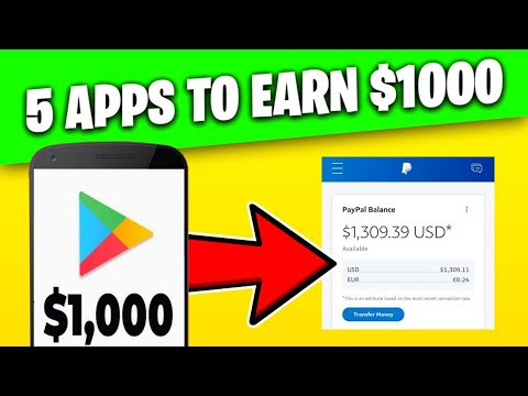 5 FREE APPS To Earn Money ($1000) RIGHT NOW!! MAKE MONEY ONLINE 2021!!