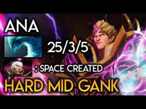 Ana Invoker Boss Hard MID GANK Battle WTF Space Created Morph God Dota 2