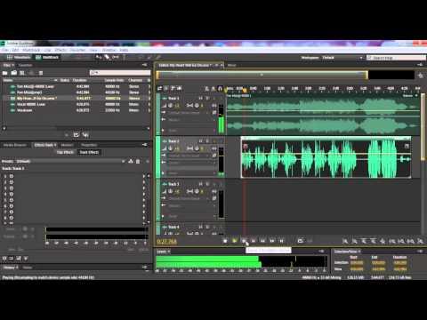 Adobe Audition - Ses Ekleme, Kesme-Birleştirme