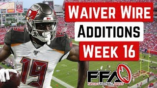 Top Waiver Wire Targets - Week 16 - 2019 Fantasy Football Advice