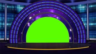 336 koyu Mavi Yeşil Ekran Animasyon arka Plan | DMX HD BG