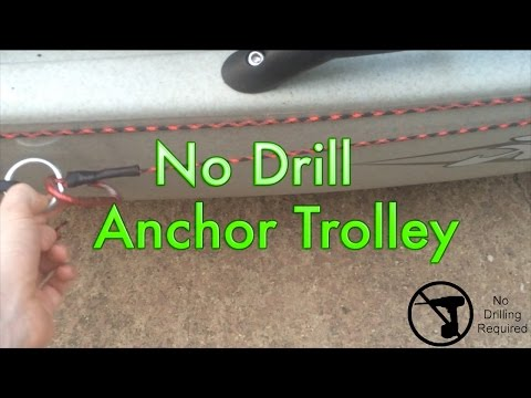 No Drill Anchor Trolley for Kayak