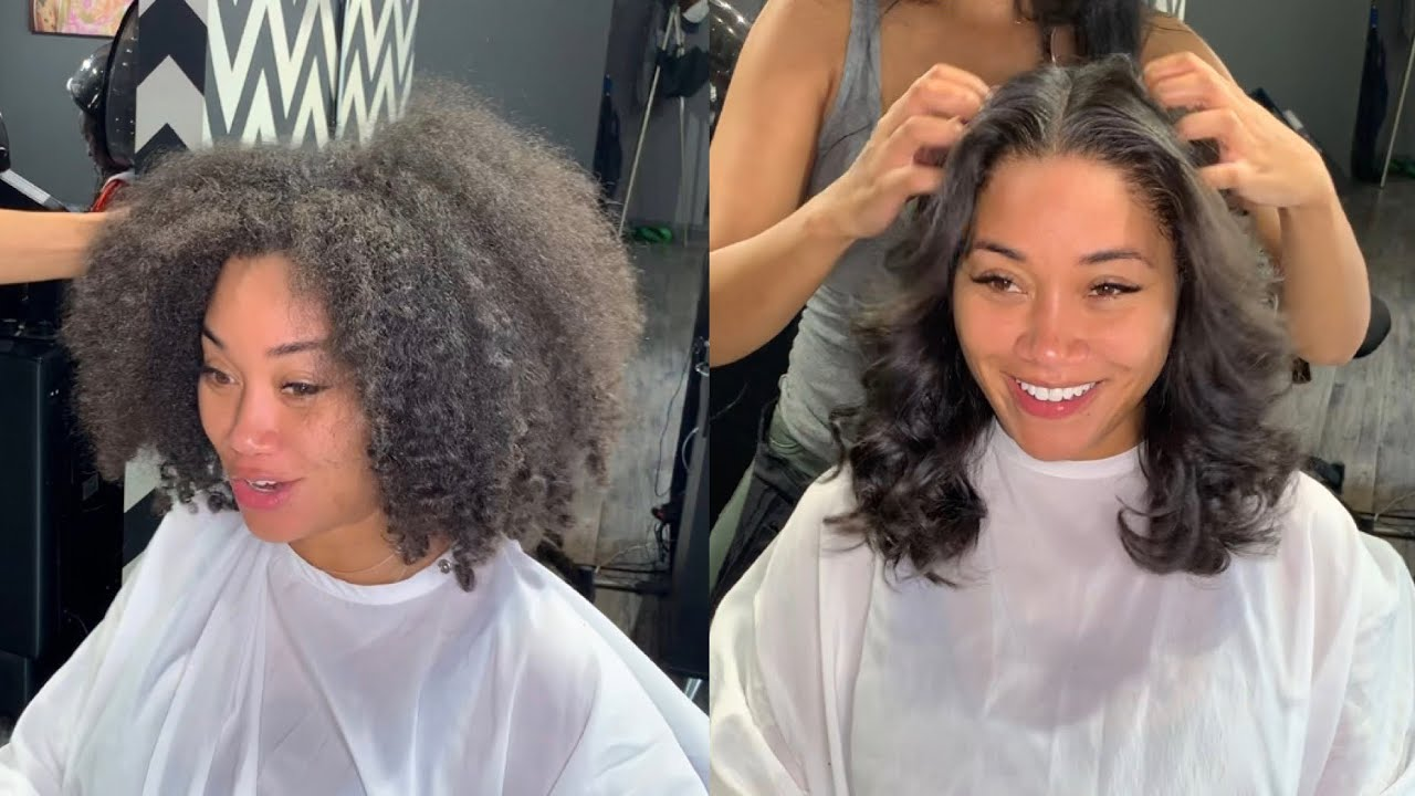 Silk press without compromising your natural curl pattern