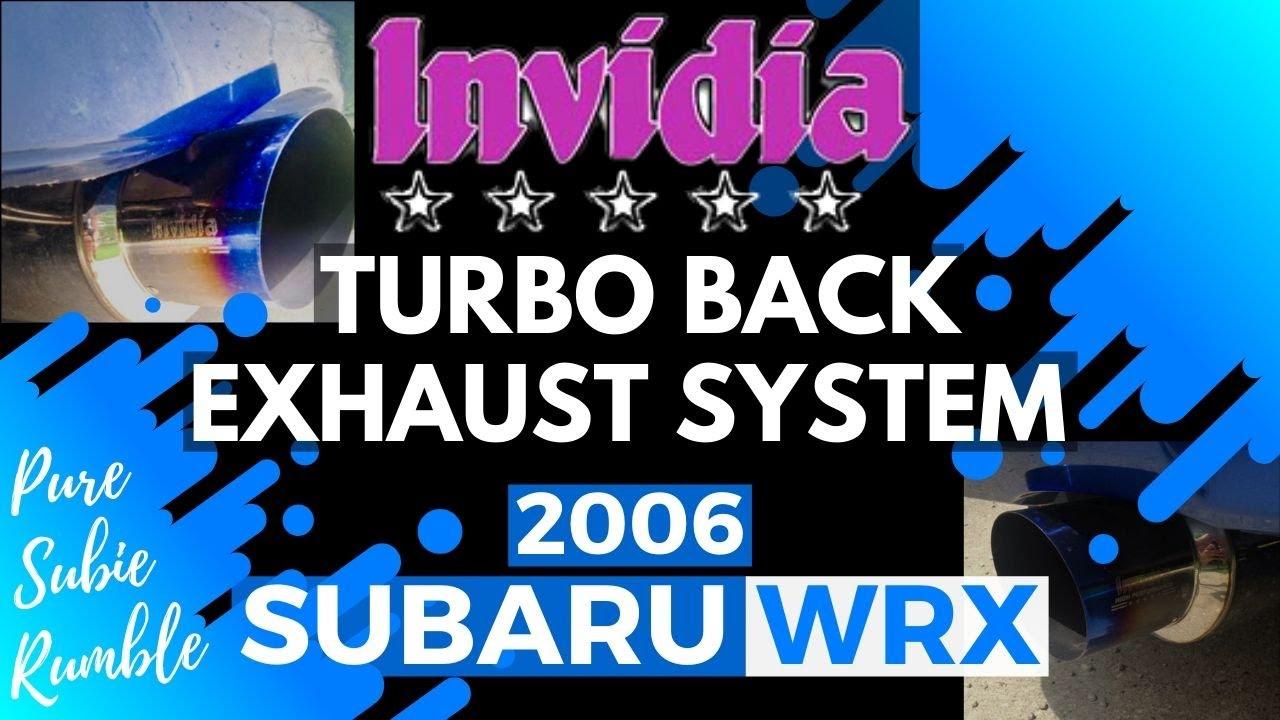 2006 subaru wrx invidia turbo back exhaust system pure subie rumble