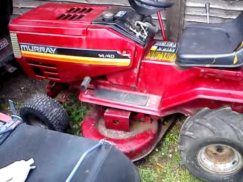 Murray Ride On Lawnmower Tractor Youtube