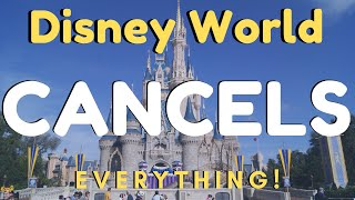 Disney Canceling All Reservations | No more Dining Reservations