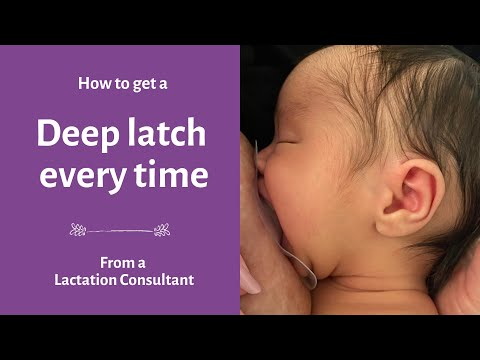 Breastfeeding Latch | Deep Latch Technique | What You NEED To Know To Get A Comfortable Latch