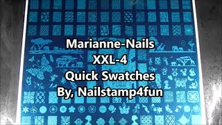Marianne Nails Xxl-4 Nail Stamping Plate