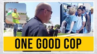 GOOD Cop Steps In To STOP Bad Cop And Attorney SPITS On Protesters