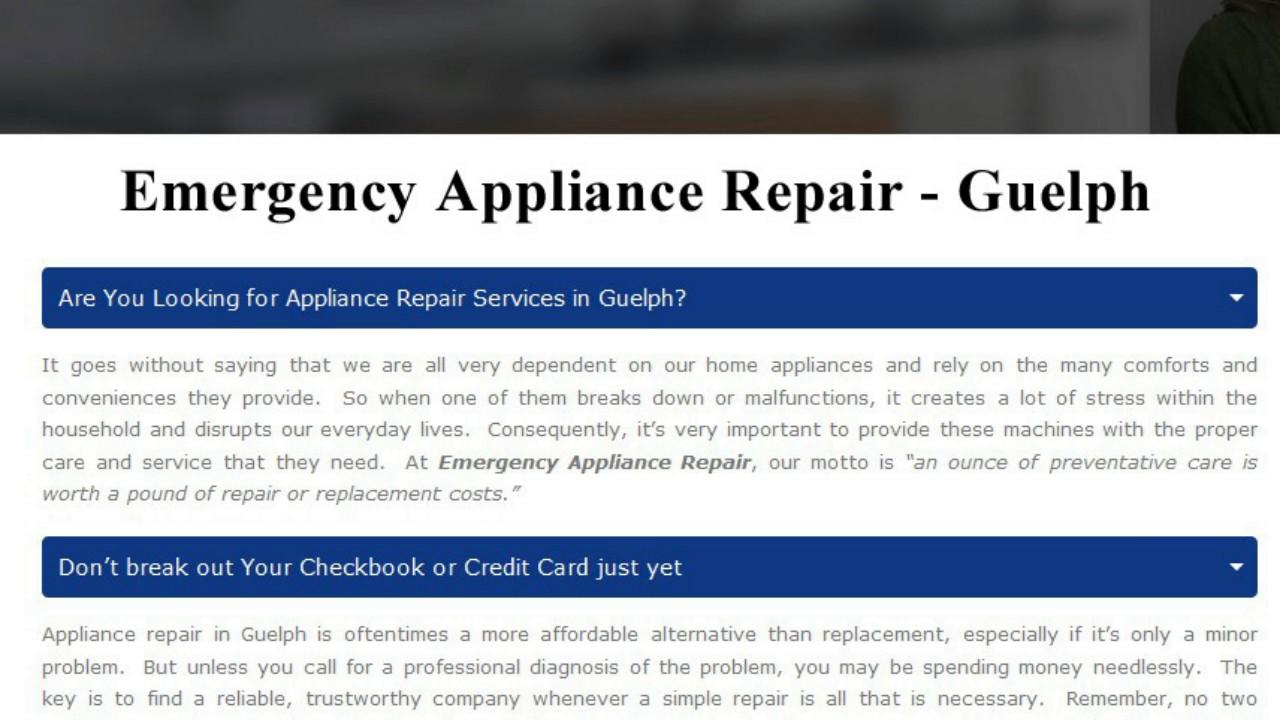 Refrigerator Repair Guelph Emergency Appliance Repair